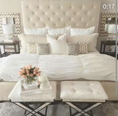 The master bedroom is one of your home's most personal spaces. It's the room in which you rewind and recharge. Master bedroom should be the relaxing space where you can go to escape the rest of life's never ending pressures. Home Decor Inspiration, Bedroom Makeover, Home Bedroom, Luxurious Bedrooms, Home Decor, Bedroom Furniture, Room Decor, Bedroom, Master Bedrooms Decor
