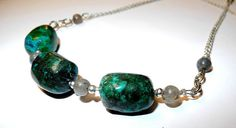 Soul of the Sea  Necklace Chrysocolla Labradorite, gemstone necklace by dreampaths