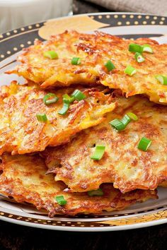 *Crispy German Potato Pancakes - Just add a dollop of sour cream or applesauce.