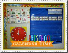 calendar: concepts to add- today, yesterday and tomorrow keep the usual days of the week and months of the year Head Start Preschool, Preschool Math Games, All About Me Preschool, Preschool Lessons, Preschool Classroom, Classroom Activities, Kindergarten, Preschool Calendar Time, Classroom Calendar