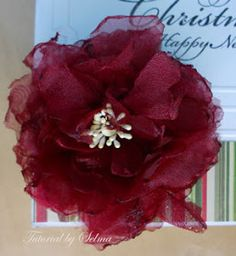Selmas Stamping Corner: Tutorial on how to Create an Organza Flower with a Heat Gun
