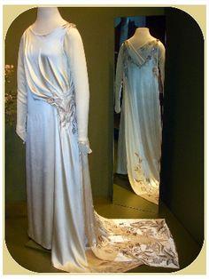 edith wedding dress downton abbey