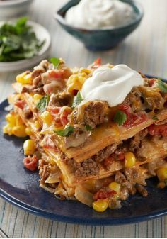 Easy Baked Taco Pie – Everything you enjoy in a taco—from the ground beef and veggies to the dollop of sour cream on top—all in one easy, baked pie. And just before you start to think that it doesn't get better than this, it does. This dish takes just 20 minutes to prep for the oven. It's a recipe must try!