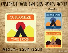 Custom Patches - Medium Rounded Square Camp Patches
