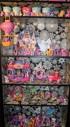 I'm addicted to the My Little Pony Friendship is Magic show, I've managed to amass quite a few of the toys from it. I'm pretty happy with my collection even though I still need some of the Canterlot sets, the MLP on scooters and Pinkie Pie's Race Car