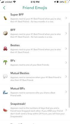Snapchat Best Friends, Snapchat Friend Emojis, Best Snapchat, Snap Snapchat, Snapchat Names, Snapchat Quotes, Instagram And Snapchat, Friends Emoji, Snap Friends