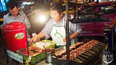 Grilled Pork (Moo Ping): Silom Soi Convent, Central Embassy or other Street Food places.