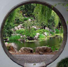 Moon gate, in the Chinese Garden of Friendship, Sydney, Australia. Photo by Jon Harley. flickr.com