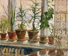 Зимнее окно - Пётр Кончаловский Art Society, Flower Painting, Sculpture Art, Russian Painting, Painting, Winter Painting, Window Art, Plant Art, Beautiful Art