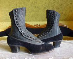 High Button Boots Edwardian shoes Antique boots antike