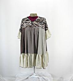 Women Plus Size Snowflake V-Neck Short Sleeve Blouse Tunic Top 1X 2X 3X