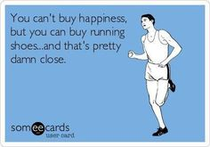 I love shopping for running shoes!