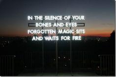 Neon Installation by artist Robert Montgomery