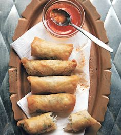 Spring Rolls with Chile–Garlic Sauce Recipe