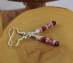 BE MY VALENTINE red and pink french hook Les by OklahomaMama