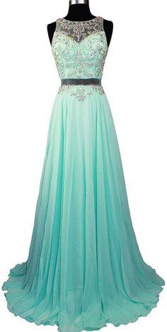 Meier Women's Sleeveless Rhinestone Sheer Back Pageant Prom Formal Dress Light Green XS