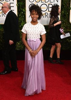Golden Globes 2015 Red Carpet Arrivals | Quvenzhané Wallis ('Annie')