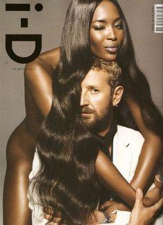 i-D Magazine August 2008 Cover Photographer: Inez van Lamsweerde and Vinoodh Matadin Models: Stefano Pilati & Naomi Campbell