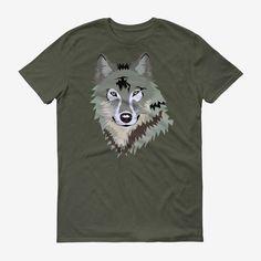 Men Lieuteuant Wolf Head T Shirt