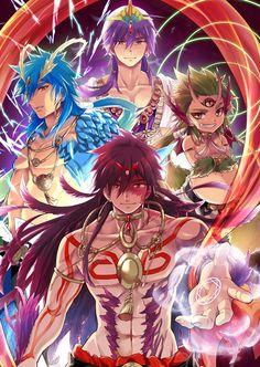 Character: Sinbad in his regular form/look, in Baal, in Zepar, and in Focalor from Manga, Anime: Magi Labyrinth of Magic Magi 3, Sinbad Magi, Magi Judal, Manga Anime, Anime Magi, Magi Adventures Of Sinbad, Magi Kingdom Of Magic, Aladdin Magi, Film D'animation