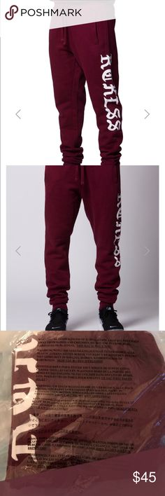 NWT Young & Reckless Burgandy Jogging Pants Brand new never worn! Smoke Free & Pet Free 🏠 Young & Reckless Pants Track Pants & Joggers