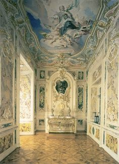 Augustusburg Palace by François de Cuvilliés (1695— 1768) – a Belgian-born Bavarian decorative designer and architect who was instrumental in bringing the Rococo style to the Wittelsbach court at Munich and to Central Europe in general.