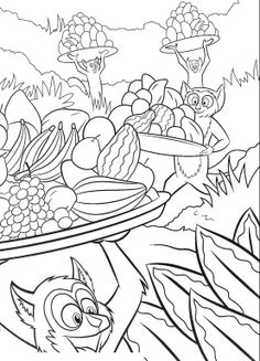 the followers of king julien madagascar coloring pages