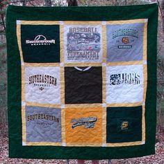 Southeastern Louisiana University T-shirt Quilt by Nancy - Breaux Bunch Quilts, via Flickr