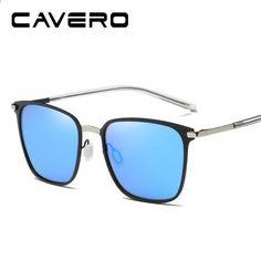 79ff7f72a831f CAVERO Značka Polarizované pánské náměstí Vintage sluneční brýle Mužské  brýle Příslušenství Sluneční brýle pro muže gafas oculos de sol W0864