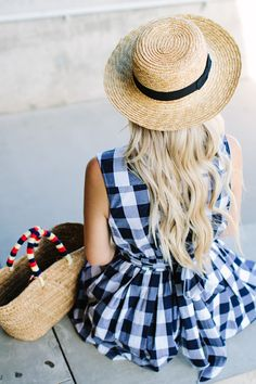 Labor Day Gingham Dress - Dash of Darling Gingham Shoes, Blue Gingham, Gingham Dress, Gingham Check, Insta Look, Clothes Horse, Well Dressed, Dress To Impress, What To Wear