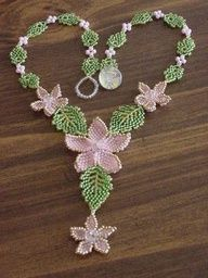 beaded leaves tutorial - Google Search