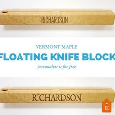 New Vermont maple floating knife block for your modern kitchen. Buy it during our fall sale and get free ground shipping.  #knifeblock #knifeholder #madeinvermont #maplewood #modernkitchen #kitchendecor #personalizedgifts #etsyseller #laurelgrove #etsyshop #personalized #kitchenware #woodworking #woodwork #madeinusa #etsy #maple #etsyfinds #instafollow #l4l #organizedkitchen #kitchenorganizer #floatingknifeblock #wallmountedknifeblock  Yummery - best recipes. Follow Us! #kitchentools…
