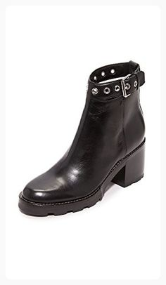 Sigerson Morrison Women's Glove Buckle Booties, Black, 8 B(M) US (*Partner Link)