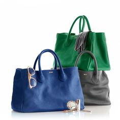 Pin for Later: Our 30 Favorite Gift Ideas That Grandparents Will Actually Love For the Stylish Grandma: Mark and Graham Elisabetta Slouch Handbag Tote Purse, Tote Handbags, Purses And Handbags, Leather Handbags, Cheap Handbags, Bow Bag, Personalized Tote Bags, Best Bags, Beautiful Bags