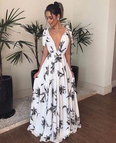 Bohemian V Neck Belted Printed Colour Bare Back Dress – Stylnbo Elegant Dresses, Pretty Dresses, Beautiful Dresses, Casual Dresses, Fashion Dresses, Prom Dresses, Ladies Dresses, Casual Evening Dresses, Backless Maxi Dresses