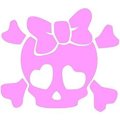 "CUTE GIRLY SKULL heart eyes (size: 4"" color:BABY PINK) Vinyl Decal Window Sticker for Cars, Trucks, Windows, Walls, Laptops, and other stuff. WQ Vinyls http://www.amazon.com/dp/B00LJ2BIMM/ref=cm_sw_r_pi_dp_.kUxub0QBVEV4"