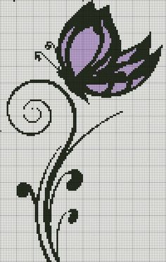 Embroidery Bead Bird 46 New Ideas Butterfly Cross Stitch, Cross Stitch Bird, Beaded Cross Stitch, Cross Stitch Animals, Cross Stitch Flowers, Cross Stitch Charts, Cross Stitch Designs, Cross Stitching, Cross Stitch Embroidery