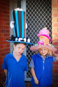 Dr. Seusse Lesson - all the 3's can deccorate the same hat, take pics wearing it! Can totally picture mom wearing one of these crazy hats