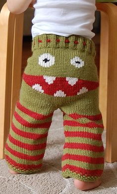 haha precious! knit - boy's trousers