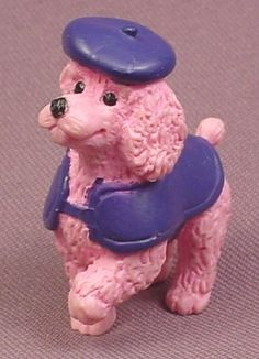 Puppy In My Pocket French Poodle Dog PVC Figure, Tasha #71, 1994 M.E.G., Show Puppies
