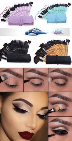 Family Deals Make up Professional Soft Makeup Brushes - 20 Pcs Set Source by Eye Makeup Tips, Mac Makeup, Makeup Tricks, Makeup Brush Set, Eyeshadow Makeup, Makeup Ideas, Makeup Products, Makeup Tutorials, Makeup Tools