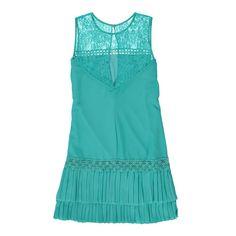 Vestido Plissado Verde