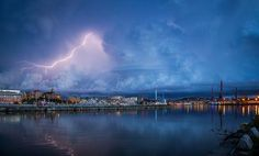 Thunderstorm Photo by Leif Nyrén — National Geographic Your Shot. A spectacular thunderstorm in my (Photographer's) hometown Göteborg (Gothenburg), Sweden.