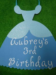 Cinderella Princess Birthday Sign