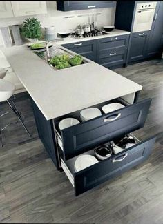 If you are looking for Small Kitchen Remodel Ideas, You come to the right place. Below are the Small Kitchen Remodel Ideas. This post about Small Kitchen R. Home Decor Kitchen, Kitchen Interior, New Kitchen, Home Kitchens, Smart Kitchen, Kitchen Small, Kitchen White, Hidden Kitchen, Apartment Kitchen