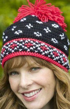 Scandinavian Hat Free Crochet Pattern from Red Heart Yarns Tutoriales ✿Teresa Restegui http://www.pinterest.com/teretegui/✿