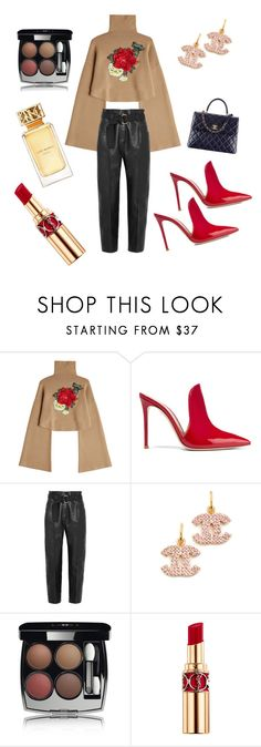 """Curvy hips and red lips 💋"" by dilv88 ❤ liked on Polyvore featuring William Fan, Gianvito Rossi, Petar Petrov, Chanel, Yves Saint Laurent and Tory Burch"
