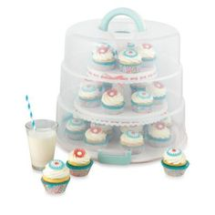 Sweet Creations Collapsible Cupcake & Cake Pop Carrier - BedBathandBeyond.com