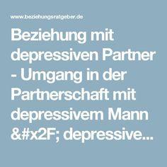 depressive männer partnerschaft