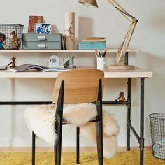 Industrial-Chic Desk - Martha Stewart Crafts LH- pipe and desk top